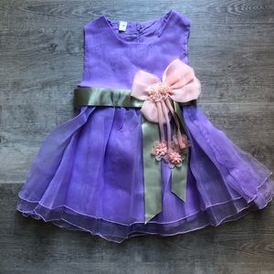 Baby Girl purple party dress size 18-24m